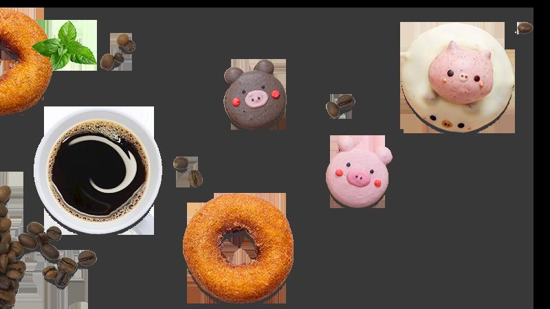 pignic cafeのコーヒーとスイーツ