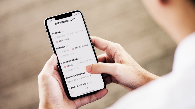 スマートフォンとメールフォーム